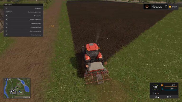 Как заправить сеялку в Farming Simulator 2017