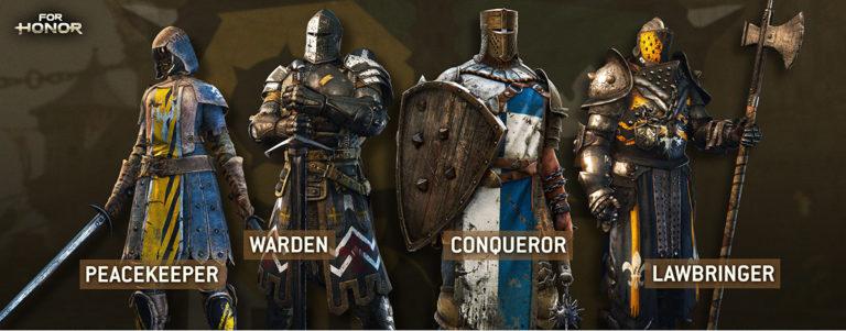 Все персонажи в For Honor, обзор всех героев