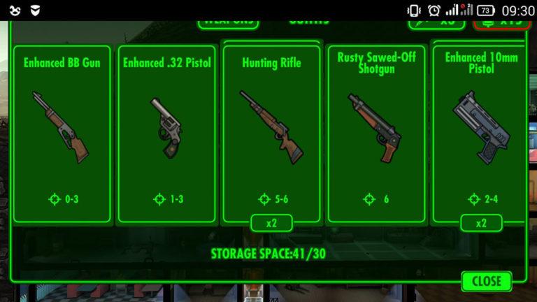 Все об оружии Fallout Shelter на пк, где брать и как продать