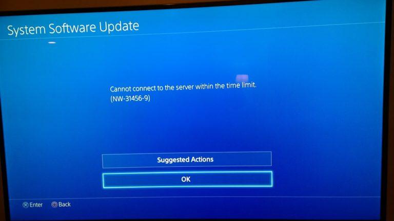Как исправить ошибку NW-31456-9 на PS4